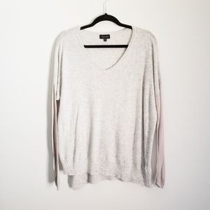 TOPSHOP sz 8 Gray Soft Knit Long Sleeve Loose Top